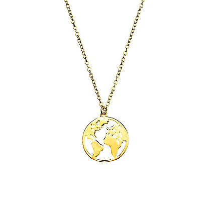 S925 World Necklace