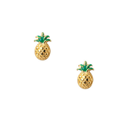 S925 Pineapple Studs