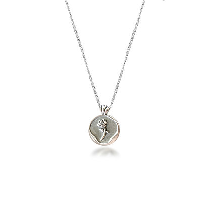 S925 Rose Stamp Necklace
