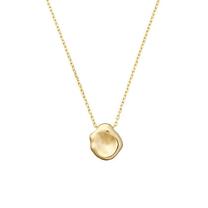 S925 Organic Disc Necklace
