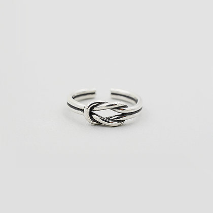 Sterling Silver Double Twist Ring