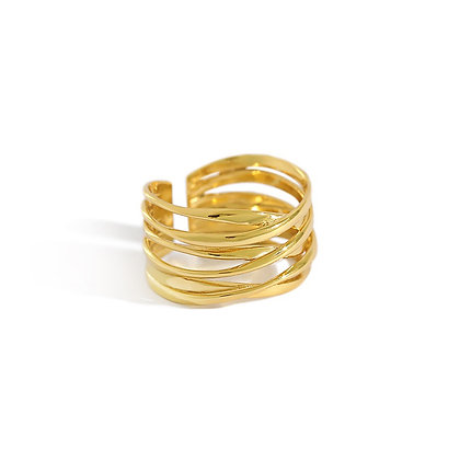 S925 Basic Wrap  Ring