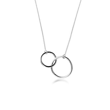 S925 Double Circle Necklace