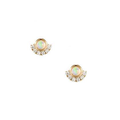 S925 Opal Earrings