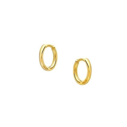 S925 6mm Round Tube Hoop Earrings