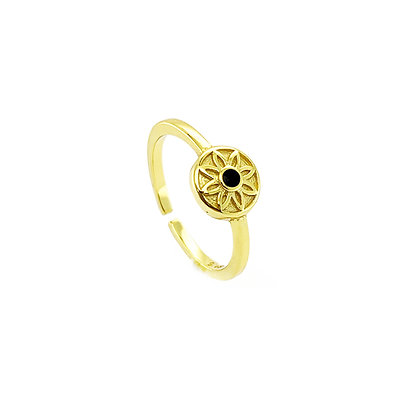 S925 Evil Eye- Adjustable Ring