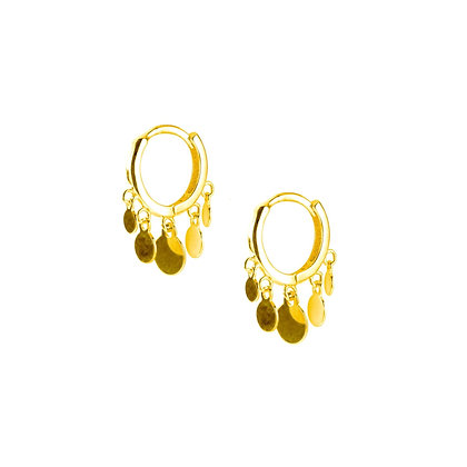 S925 Multi-Drop Hoop Earrings