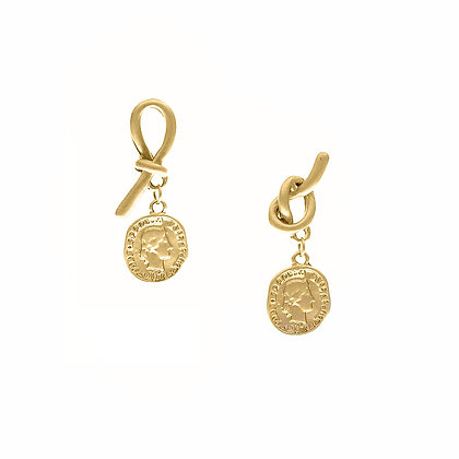 Knot Coin Studs- S925 Post