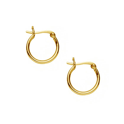 S925 17mm Round Tube Hoop Earrings