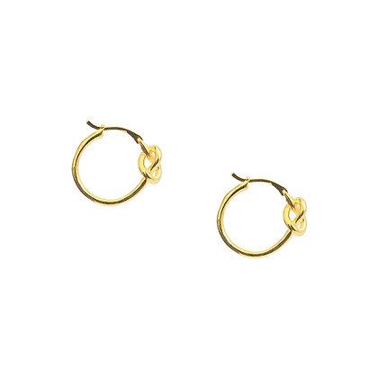 S925 Knot Hoop Earrings