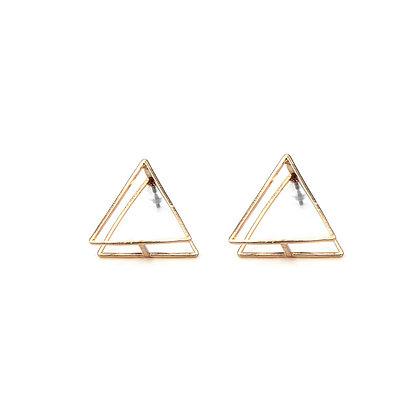 2D Triangle Earrings