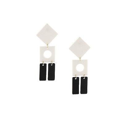 Black & White Resin Earrings
