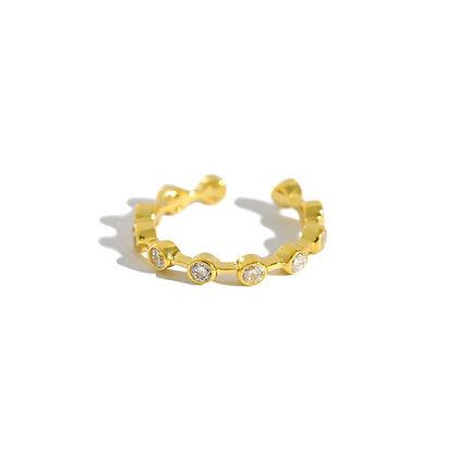 S925 Diamond Adjustable Ring