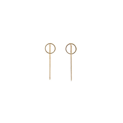 Circle Front Pin Back Earrings