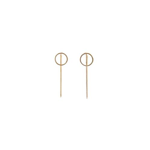 739ed9e07 Circle Front Pin Back Earrings