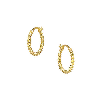 S925 Multi-Twist Hoop Earrings