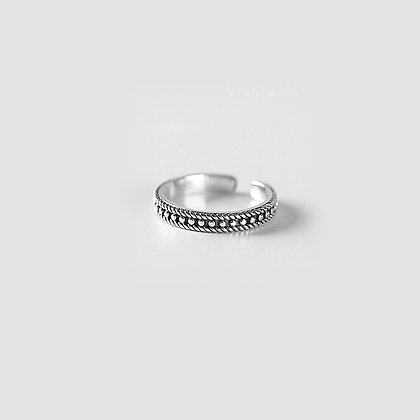Sterling Silver Vintage Ring (Thin Band)