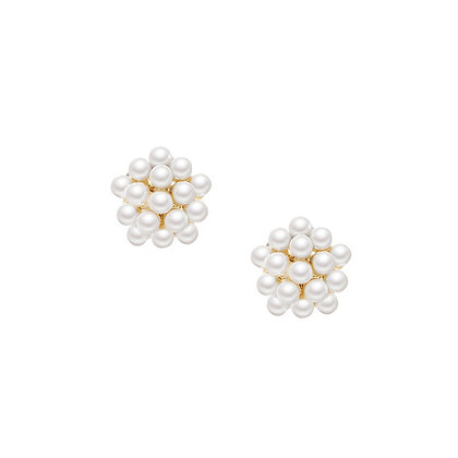 Pearl Ball Stud Earring- S925 Post