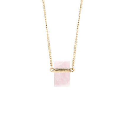 Simple Natural Pink Stone Necklace
