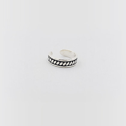 Sterling Silver Vintage Ring (Thick Band)
