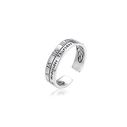 S925 Monday to Sunday Ring