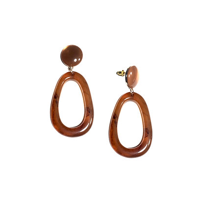 Oval Resin Drop Earring