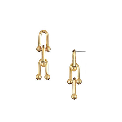 Triple Link Earrings - S925 Post