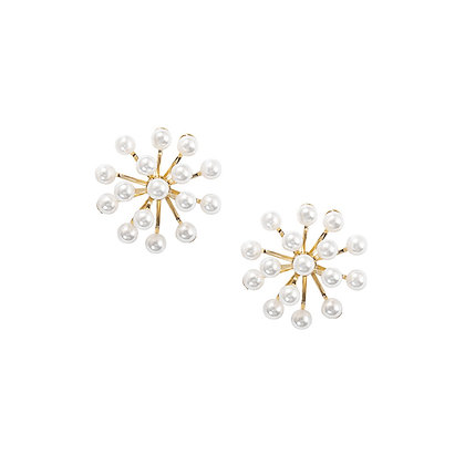 20mm Firework Pearl Stud Earrings -S925 Post