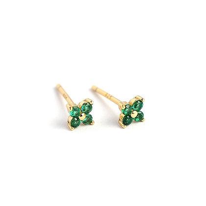 S925 Four Leaf Earrings