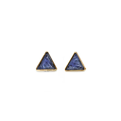 Blue Quartz Stud Earrings
