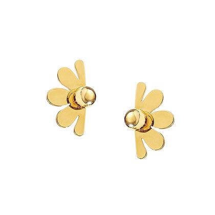 Half-daisy Stud Earrings -S925 Post