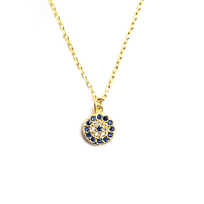 Small CZ Evil Eye Necklace