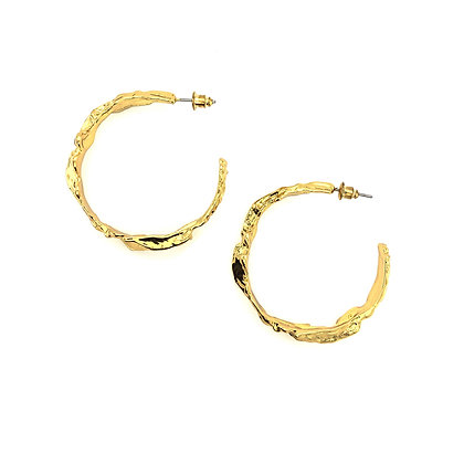 14k Gold Plated- Irregular Hoops