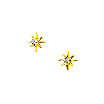 S925 CZ Star Stud Earrings