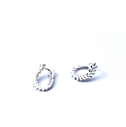 S925 Fine Leaf Earrings