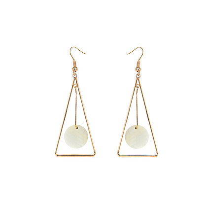 Exquisite Drop Triangle Earrings with Shell