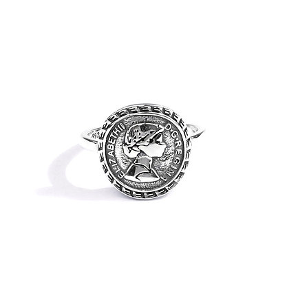 S925 Elizabeth Coin  Ring