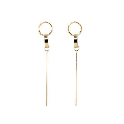 Double Circle Drop Pin Earring