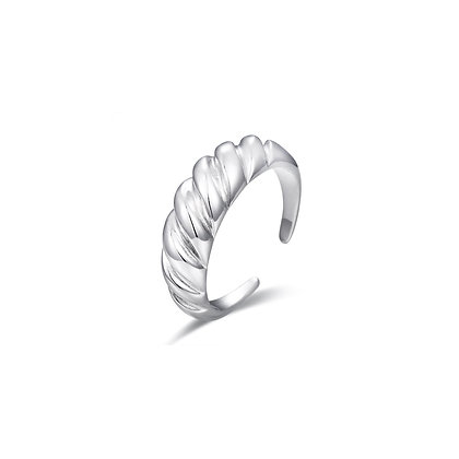 S925 Croissant Adjustable Ring