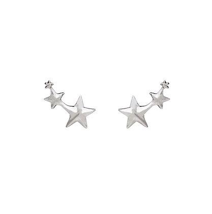 S925 Tri-Star Earrings