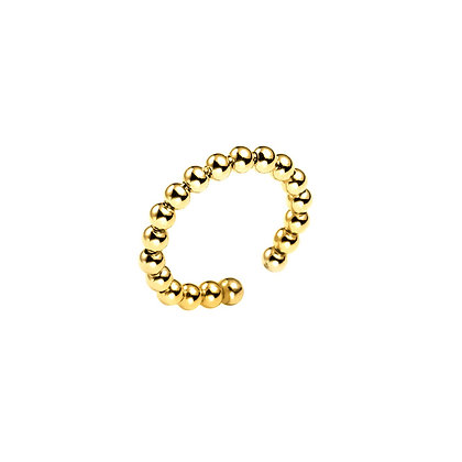 S925 Bead Dot Adjustable Ring