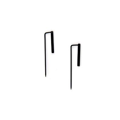 Simple Double Bar Earrings