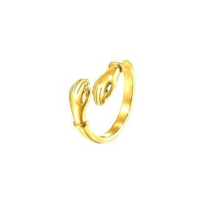 S925 Warm Hug Adjustable Ring