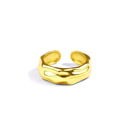 S925 Adjustable Texture Ring