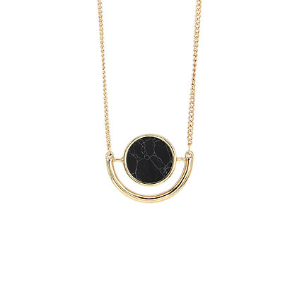 Half Circle Marble Necklace