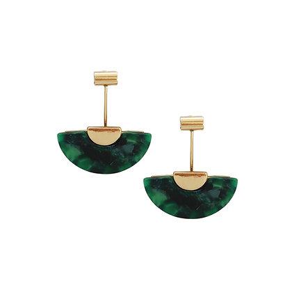 Resin Fan Earrings
