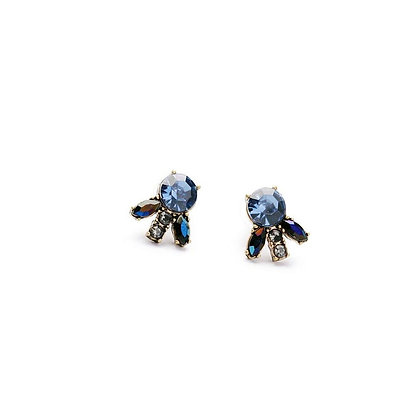 Delicate Blue Statement Earrings