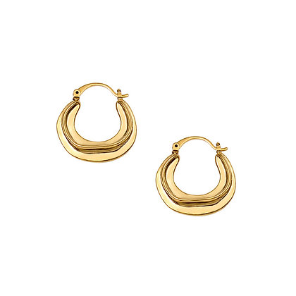 14k Gold Plated- Small Swirl Hoops