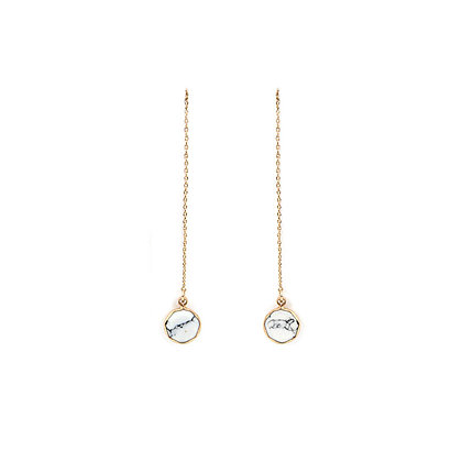 Drop Pendant Marble Earrings