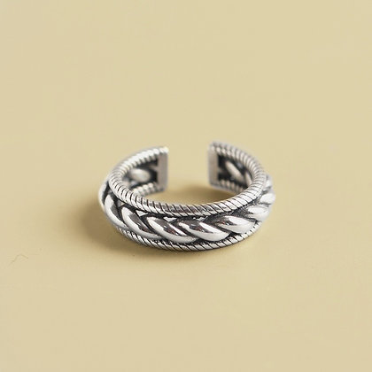 S925 Wrapped Bead Ring